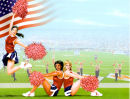 Cheerleaders background paper for Name or Poem plaque