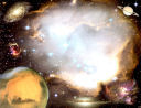 Outer Space fantasy background for Name or Poem plaque